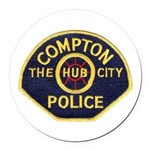 Compton CA Police Round Car Magnet