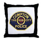 Compton CA Police Throw Pillow