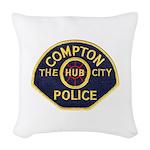 Compton CA Police Woven Throw Pillow