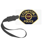 Compton CA Police Large Luggage Tag
