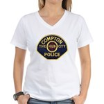 Compton CA Police Women's V-Neck T-Shirt