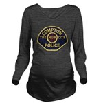 Compton CA Police Long Sleeve Maternity T-Shirt