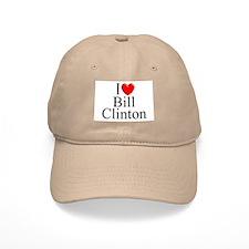 """I Love (Heart) Bill Clinton"" Baseball Cap"