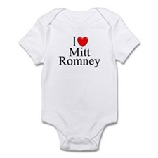 """I Love (Heart) Mitt Romney"" Infant Bodysuit"