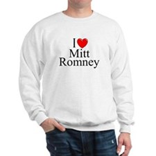 """I Love (Heart) Mitt Romney"" Sweatshirt"