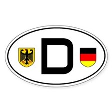 Germany car decal (Oval)