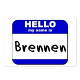 hello my name is brennen  Postcards (Package of 8)