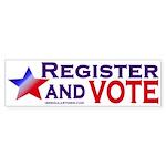 Register and Vote (bumper sticker)