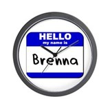 hello my name is brenna  Wall Clock