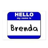 hello my name is brenda  Postcards (Package of 8)