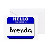 hello my name is brenda  Greeting Cards (Package o