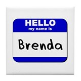 hello my name is brenda  Tile Coaster