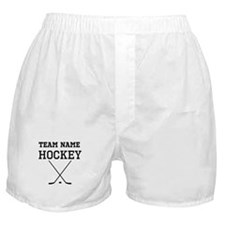 (Team Name) Hockey Boxer Shorts