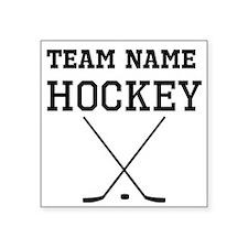 (Team Name) Hockey Sticker