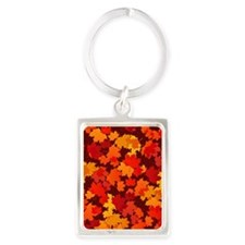 Autumn Leaves Portrait Keychain