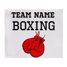 (Team Name) Boxing Throw Blanket