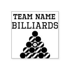 (Team Name) Billiards Sticker
