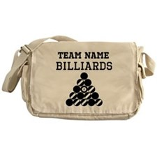 (Team Name) Billiards Messenger Bag