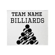 (Team Name) Billiards Throw Blanket