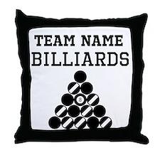 (Team Name) Billiards Throw Pillow