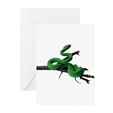 Green Tree Python Greeting Cards (Pk of 10)