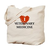 I Love Veterinary Medicine Tote Bag