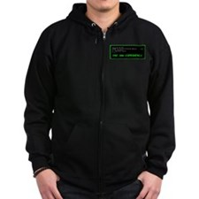 The 386 Experience Black Zip Hoodie