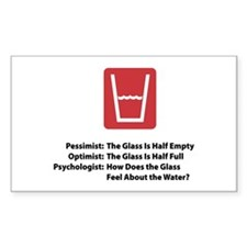 Psychologist Glass Rectangle Decal