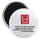 "Psychologist Glass 2.25"" Magnet (10 pack)"