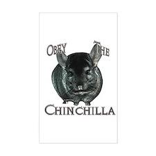 Chinchilla Obey Rectangle Bumper Stickers