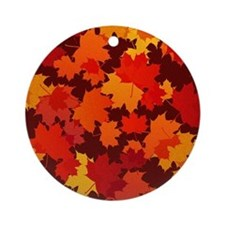 Autumn Leaves Round Ornament