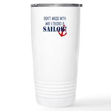 Cute Navy mom Travel Mug