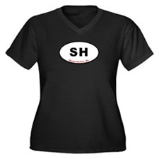 Stone Harbor NJ Women's Plus Size V-Neck Dark T-Sh