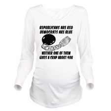 wht_rep_red_dem_blue Long Sleeve Maternity T-Shirt