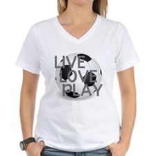 Live, Love, Play Soccer T-Shirt