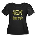 Awesome Women's Plus Size Scoop Neck Dark T-Shirt