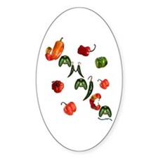 Jamaica Chilis Oval Stickers