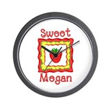 Sweet Megan Wall Clock