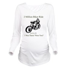 2 Million Bikers Long Sleeve Maternity T-Shirt