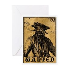 Blackbeard Wanted Poster Greeting Card