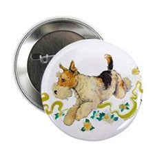 Fox Terrier Frolic Button