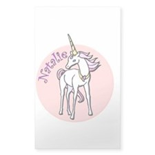 Natalie Unicorn Rectangle Decal
