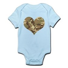 Camouflage Heart Green and Brown Body Suit