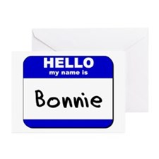 hello my name is bonnie  Greeting Cards (Package o