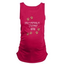 Patterdale Terrier Mom white Maternity Tank Top