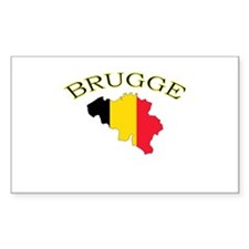 Brugge, Belgium Rectangle Decal