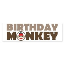Birthday Monkey Bumper Sticker