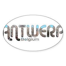 Antwerp, Belgium Oval Decal