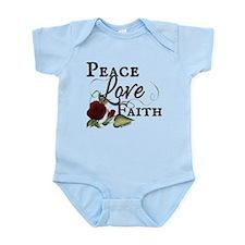 PFL Red Rose Design Infant Bodysuit
