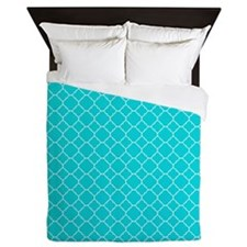 Tiffany Blue Aqua Beach Coastal Summer Quatre Foil
